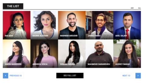 قائمة أكثر 30 شاب تأثيرًا في الوطن العربي