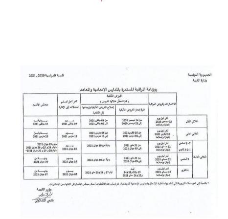 روزنامة الرسمية للفروض العادية والتأليفية - منشور الوزارة الصفحة 4