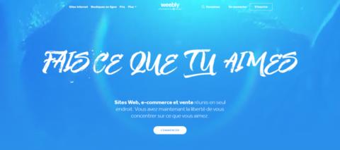 منصة Weebly